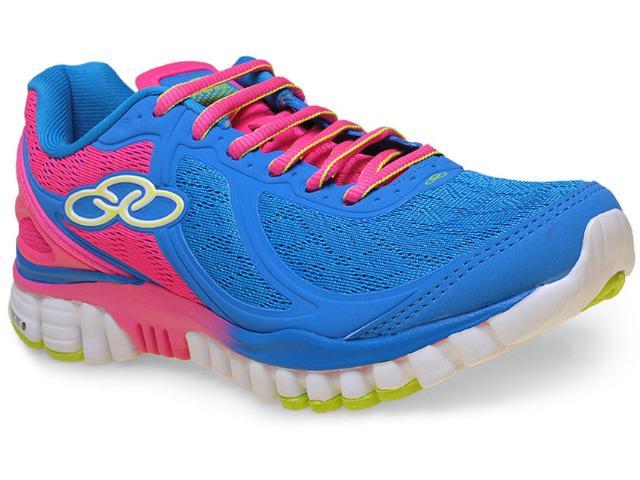 Tênis Feminino Olympikus Involve 195 Azul/pink