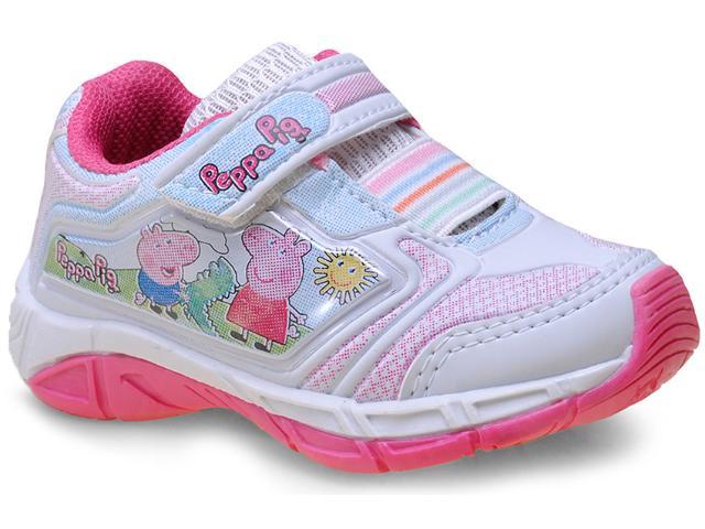 Tênis Fem Infantil pe de Chule Peppa Branco/pink