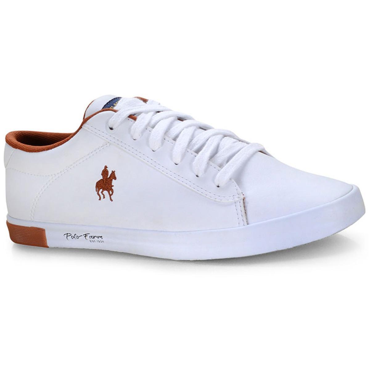 Tênis Masculino Polo Bhpf111 Branco/cobre