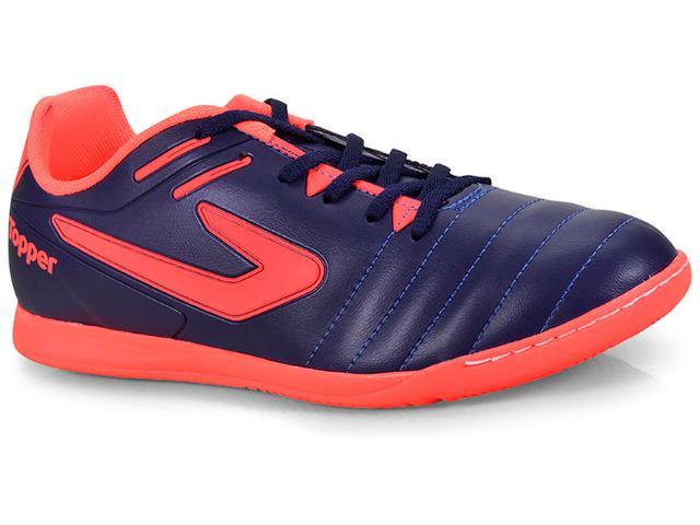 Tênis Masculino Topper 4200391 0064 Boleiro Indoor Marinho/coral