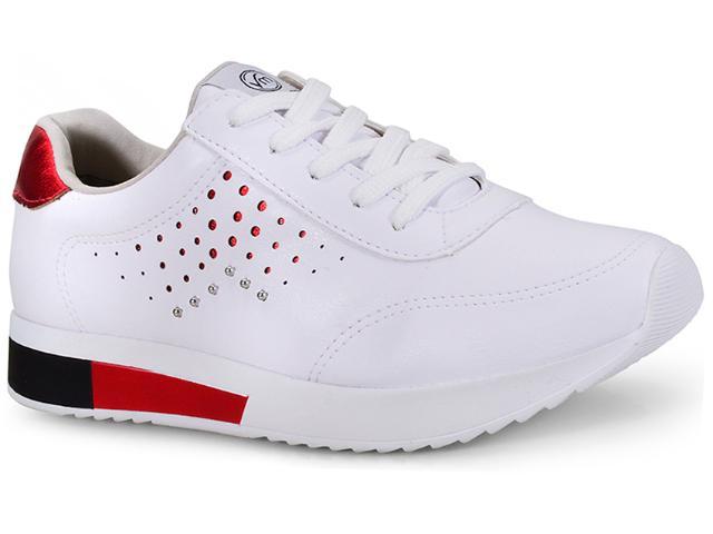 Tênis Feminino Via Marte 18-9755 Branco/vermelho