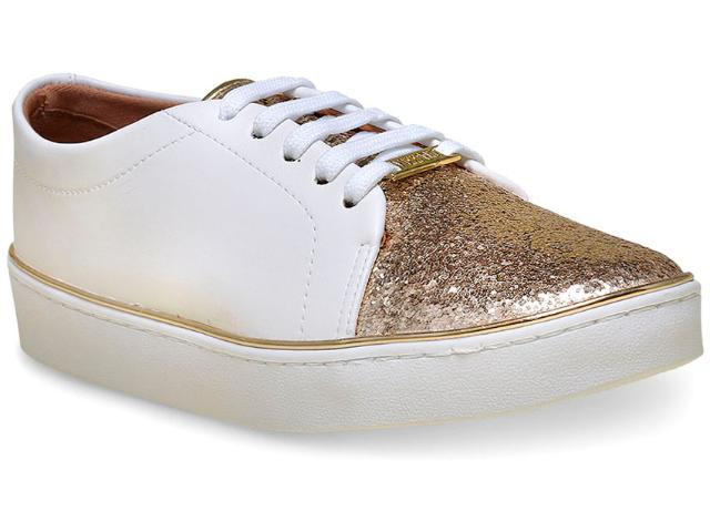 Tênis Feminino Vizzano 1214101 Branco/dourado