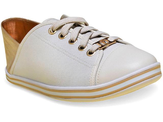 Tênis Feminino Vizzano 1233103 Off White/ouro