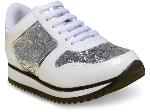 Tênis Feminino Vizzano 1234106 Branco/prata