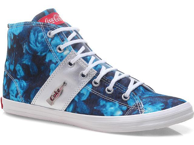 Tênis Feminino Coca-cola Shoes Cc0367 Azul
