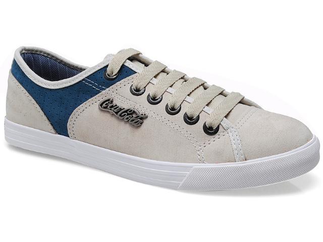 Tênis Masculino Coca-cola Shoes Cc0207 Areia/jeans