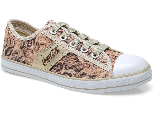 Tênis Feminino Coca-cola Shoes Cc0482 Cobra/natural/ouro