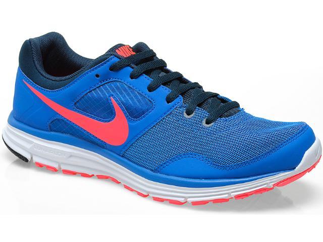 Tênis Masculino Nike 554677-464 Lunarfly +4 Azul/rosa Neon