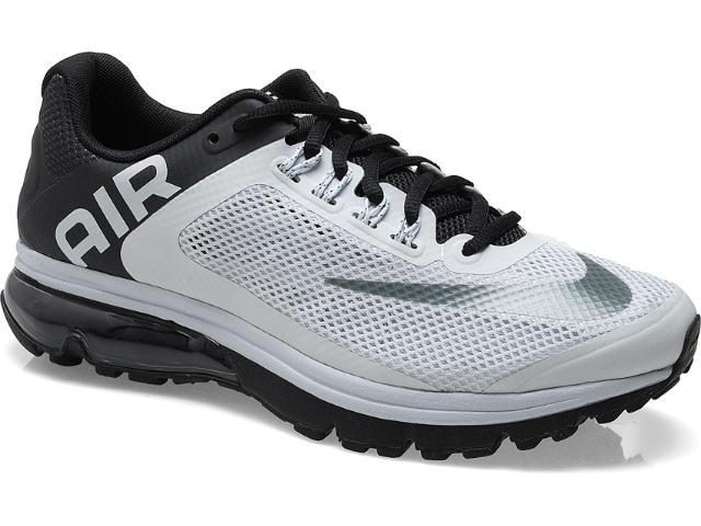 Tênis Masculino Nike 555331-010 Air Max Excellerate +2 Cinza/preto