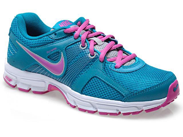 Tênis Feminino Nike 537609-360 Wmns Air Retaliate 2 Turquesa/rosa