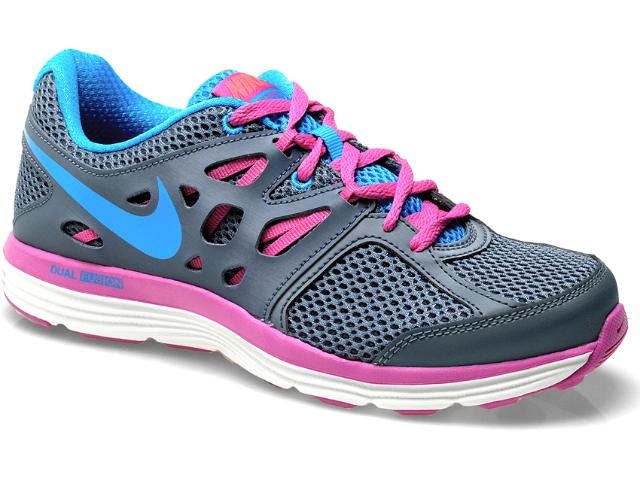 Tênis Feminino Nike 599560-400 Dual Fusion Lite Chumbo/pink/celeste