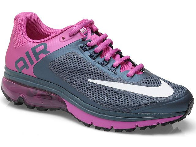 Tênis Feminino Nike 555764-416 Wmns Air Max Excellerate+ 2 Chumbo/violeta