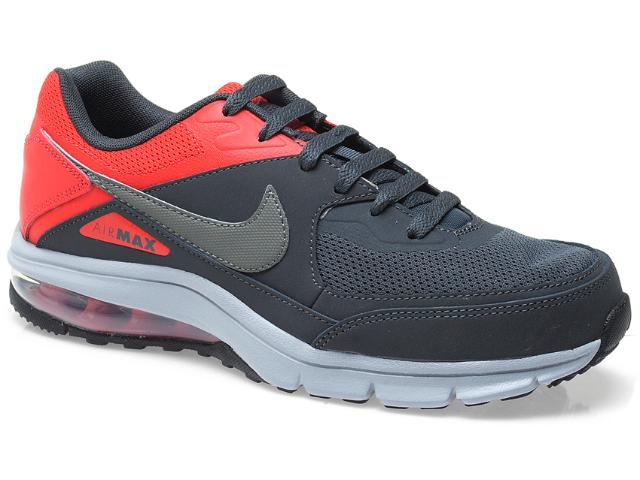 Tênis Masculino Nike 610639-006 Air Max Rebel Chumbo/vermelho