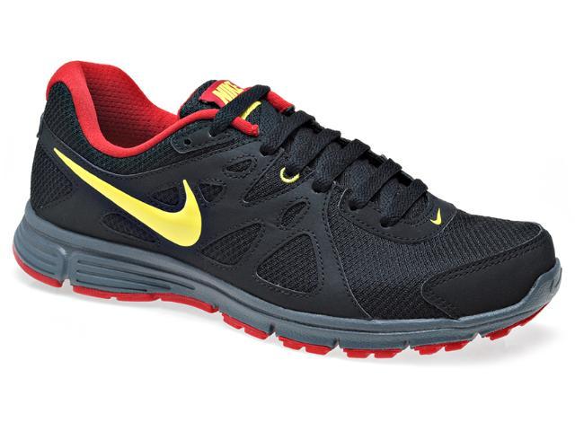 Tênis Masculino Nike 554954-022 Revolution 2 Msl Preto/amarelo