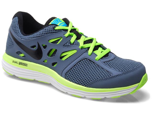 Tênis Masculino Nike 599513-403 Dual Fusion Lite Grafite/limão