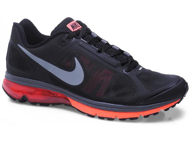 Tênis Masculino Nike 539928-005 Air Max Finale Preto/laranja Neon