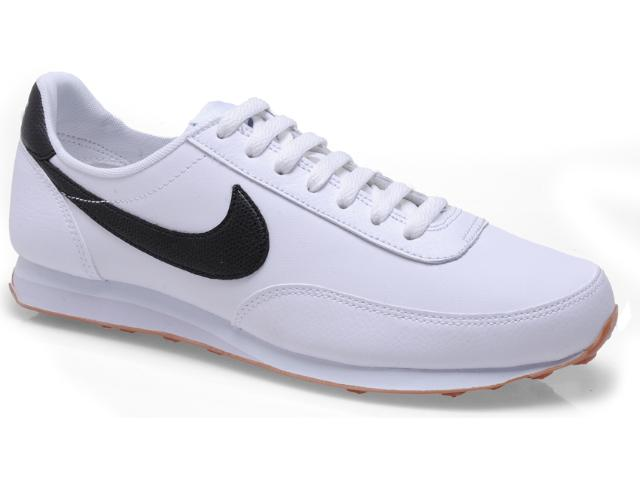 Tênis Masculino Nike 444337-105 Elite Leather si Branco/preto