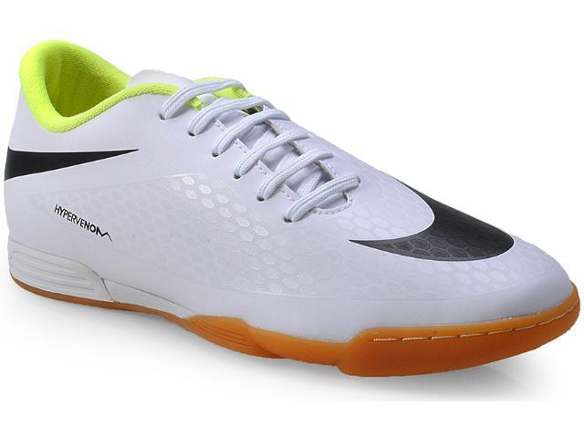Tênis Masculino Nike 633419-107 Hypervenom Phade ic Branco/preto/limão