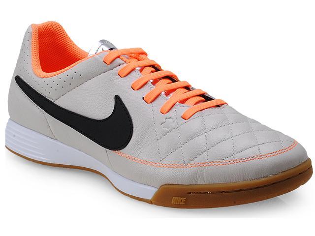 Tênis Masculino Nike 631283-008 Genio Leather ic Gelo/laranja/preto