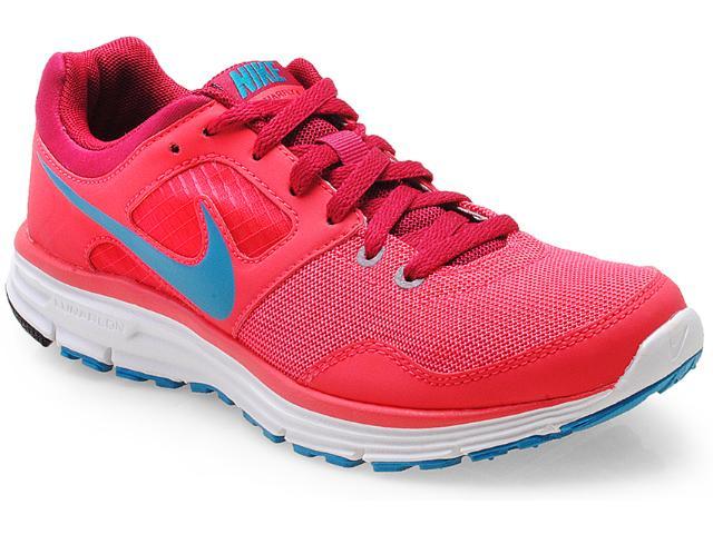 Tênis Feminino Nike 554676-636 Lunarfly +4 Coral/vinho/acqua