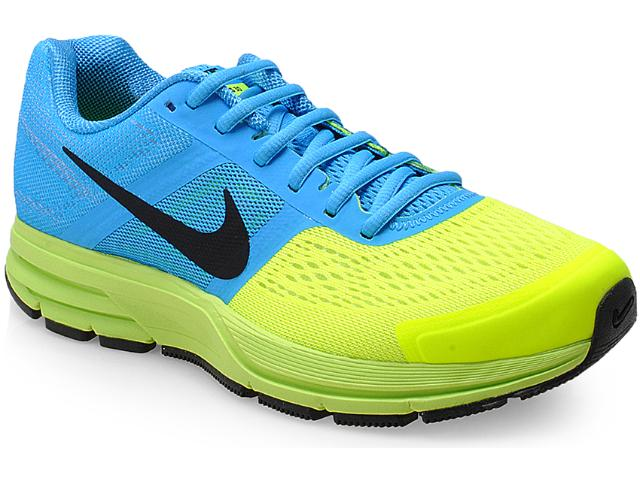 Tênis Masculino Nike Pegas599205-400 Air U30 Azul Clasu +ro/limão
