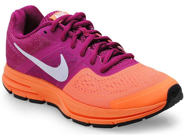Tênis Feminino Nike 599392-518 Wmns Air Pegasus+ 30 Laranja/roxo