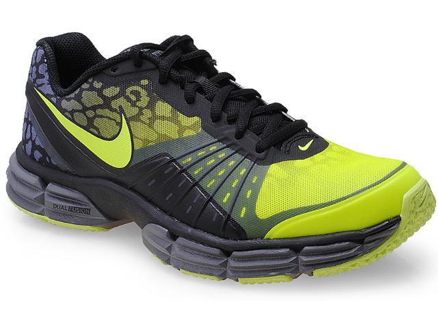 Tênis Masculino Nike 631469-700 Dual Fusion tr 5 Premium Preto/limão