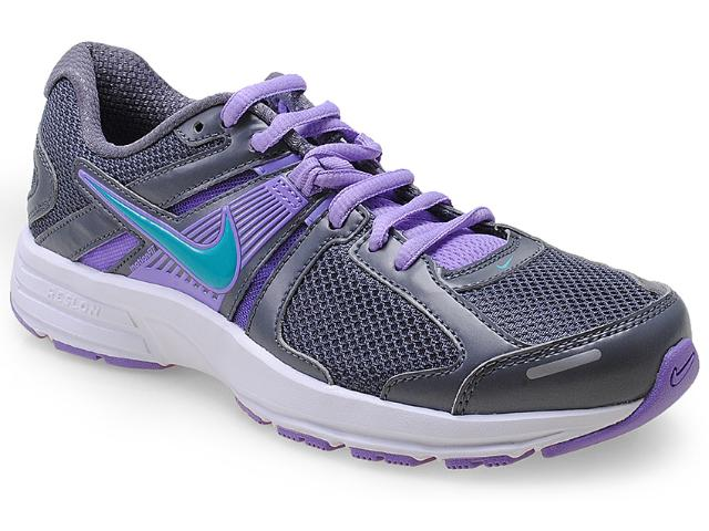 Tênis Feminino Nike 580438-024 Wmns Dart 10 Msl Chumbo/lilas