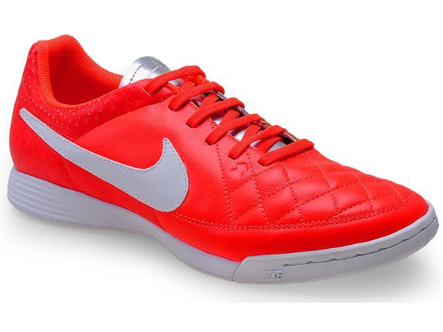 Tênis Masculino Nike 631283-810 Tiempo Genio Leather ic Laranja/branco