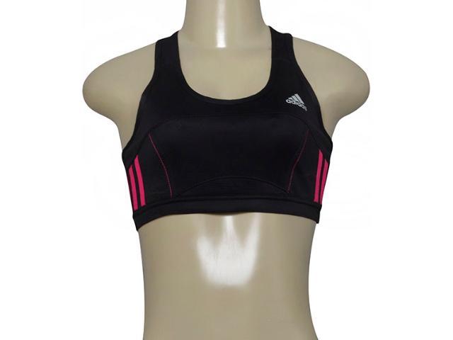 Top Feminino Adidas G85607 Response Crop w Preto/pink