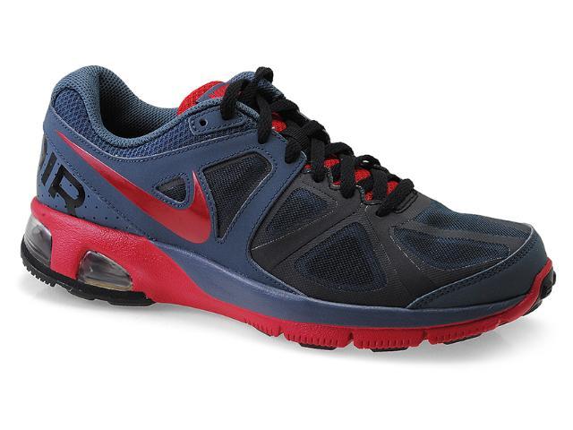 Tênis Masculino Nike 554904-403 Air Max Run Lite 4 Chumbo/vermelho/preto