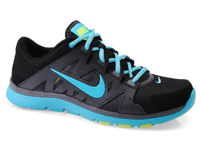 Tênis Feminino Nike 616694-004 Wmns Flex Supreme tr 2 Chumbo/preto/celeste