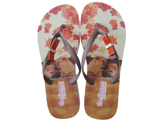 Chinelo Feminino Rafitthy 111.32702 Sharpei Orange Color