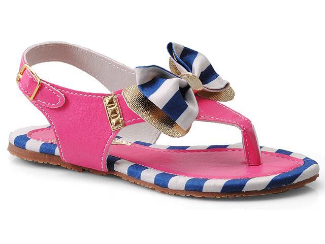 Sandália Fem Infantil Novopé 213504 Pink/marinho/dourado