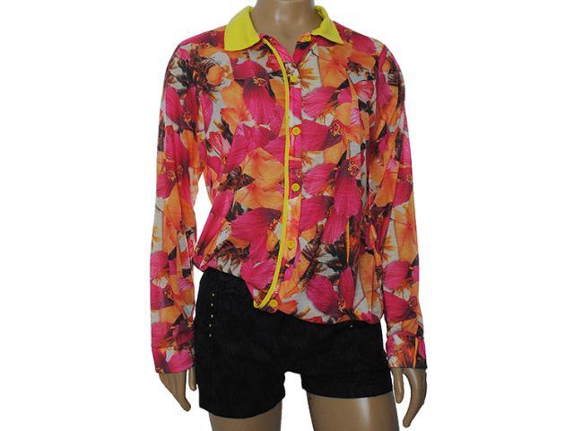 Camisa Feminina Coca-cola Clothing 303200258 Floral Amarelo