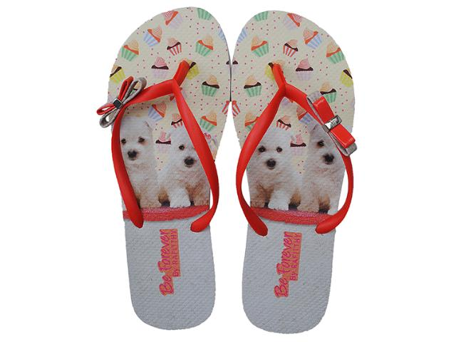 Chinelo Feminino Rafitthy 111.31702 Orange Poodles Color