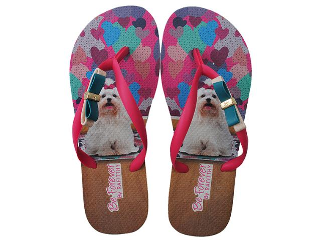Chinelo Feminino Rafitthy 111.32702 Hearts Maltes Color