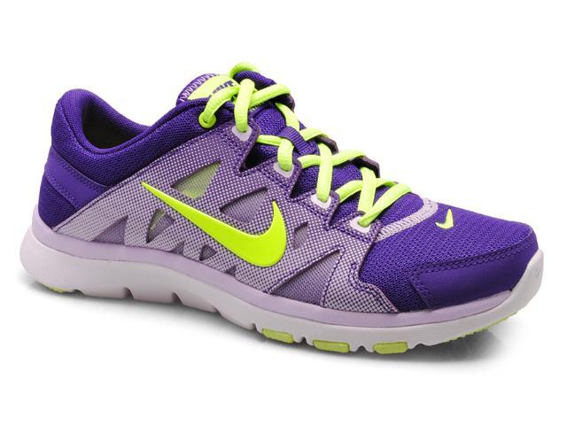 Tênis Feminino Nike 616694-502 Flex Supreme tr Roxo/lilas/limão