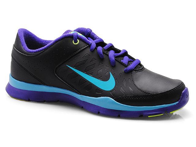 Tênis Feminino Nike 580384-007 Core Flex sl  Preto/roxo/celeste