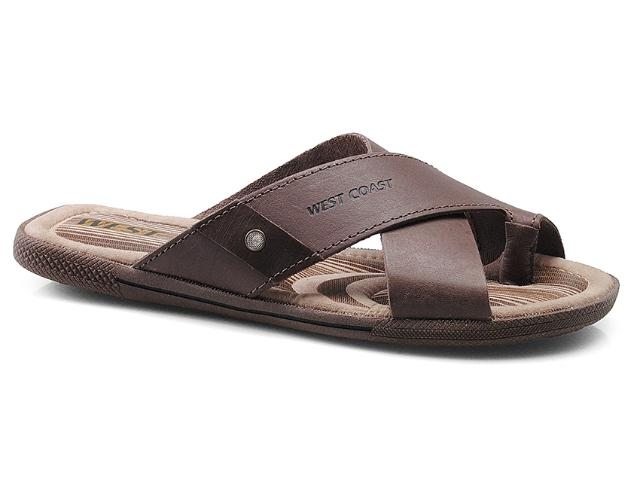 Chinelo Masculino West Coast 111010-1 Brown/café