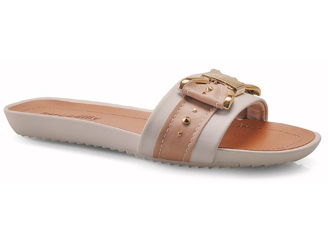 Tamanco Feminino Piccadilly 514004 Off White/pele