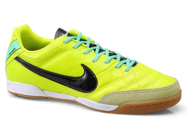Tênis Masculino Nike 580900-703 Tiempo Natural iv Lthr ic Limão/preto