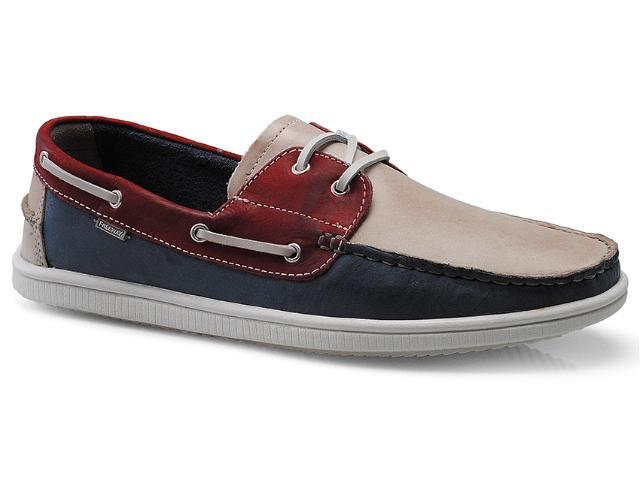 Sapato Masculino Free Way Fragata-1 Natural/vermelho