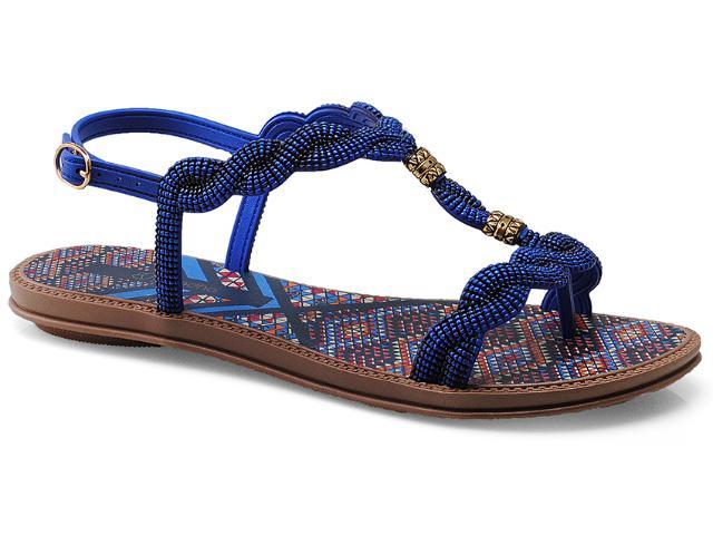 Sandália Feminina Grendene 16651 Grendha Tribal Azul/marrom
