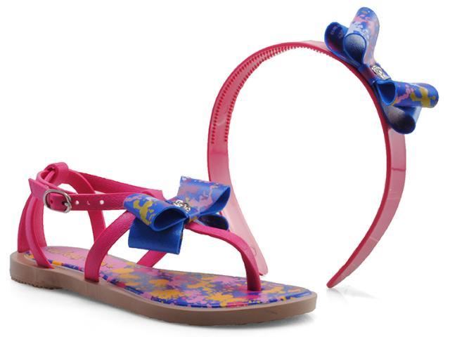 Sandália Feminino Infantil Grendene 21192 Chiquititas  Bege/rosa/azul