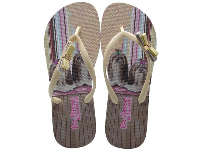 Chinelo Feminino Rafitthy 111.32702 Shitzu Hearts Color