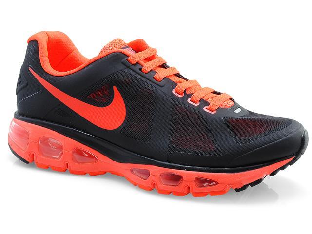 Tênis Masculino Nike 558557-004 Air Max Triade 2+ Preto/laranja Neon