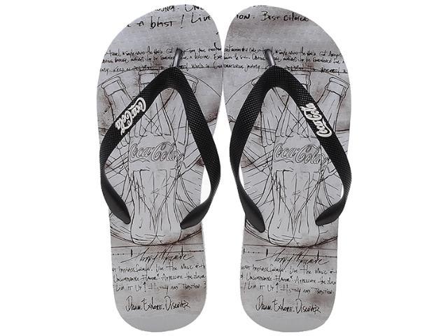 Chinelo Masculino Coca-cola Shoes Cc0385 Branco/preto