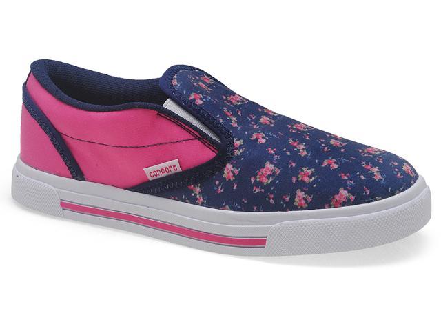 Tênis Fem Infantil Novopé 111220 Floral Marinho/pink
