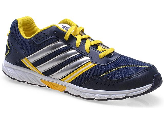 Tênis Masc Infantil Adidas D65313 Afaito lt k Lace k Marinho/amarelo/prata